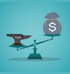 concept balancing with income and tax vector image