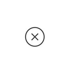 delete icon line style vector image vector image