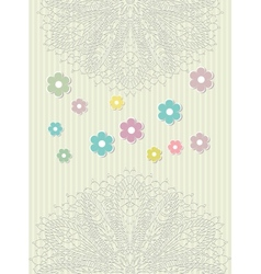 Greeting background with lace vector image vector image