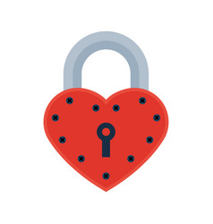 house door heart lock access equipment icon vector image vector image
