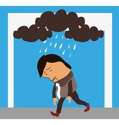 man in bad mood vector image