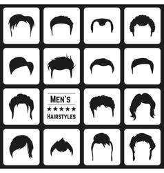 Mens haircuts vector image vector image