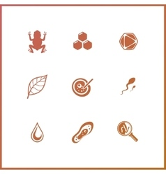 Modern icons set of biochemistry research biology vector image vector image