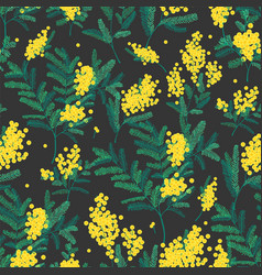 natural seamless pattern with gorgeous blooming vector image