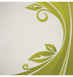 nature banner grass and leaves vector image