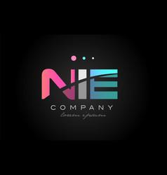 nie n i e three letter logo icon design vector image vector image