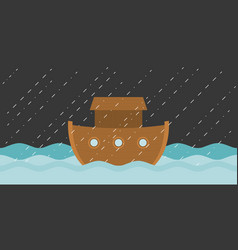 Noah ark in raining vector