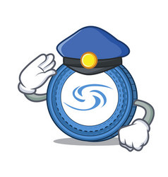 Police syscoin character cartoon style vector