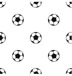 soccer ball pattern seamless black vector image vector image