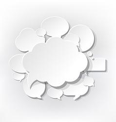 Speech Bubbles Symbols vector image