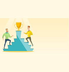 two men competing for the business award vector image