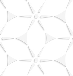 White geometrical triangles and stars seamless vector image