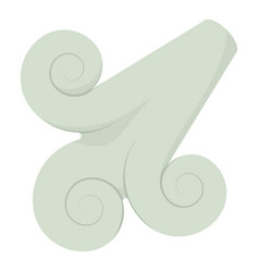 Wind icon cartoon style vector