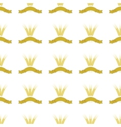 Wheats ribbon seamless pattern vector