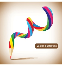 art template with a pencil vector image