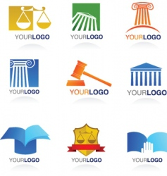 legal logos  vector image