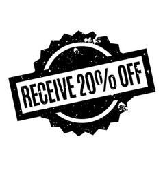 Receive 20 off rubber stamp vector