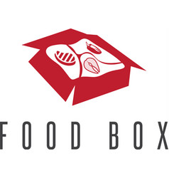 Food box concept with products for bbq icon vector