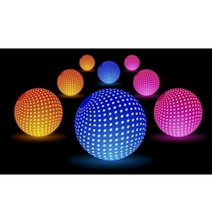 Digital Light Balls vector image