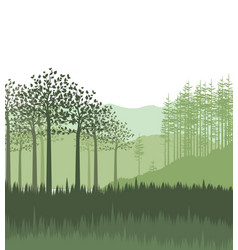 Landscape with forest vector