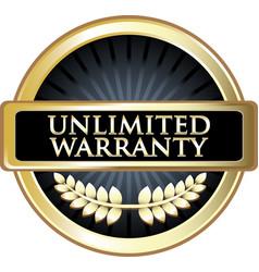 Unlimited warranty icon vector