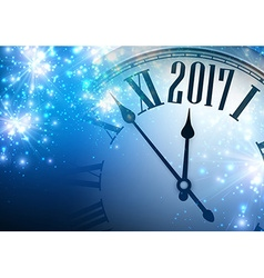 2017 year background with clock vector