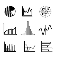 Set of graphs and charts vector