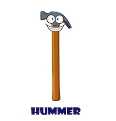 Funny cartoon claw hammer vector
