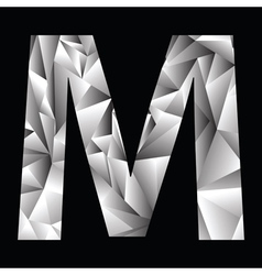Crystal letter m vector
