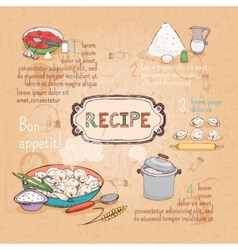 Food ingredients recipe vector