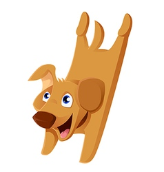 Cartoonn puppy vector image