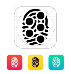 Fingerprint loop type scan icon vector