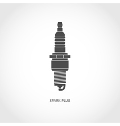 Car spark plug icon vector