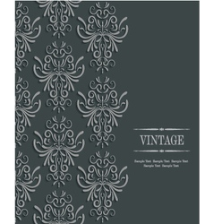 3d vintage wedding or invitation card with floral vector