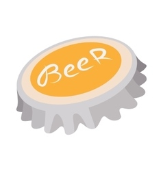 Beer bottle cap cartoon icon vector