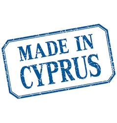 Cyprus - made in blue vintage isolated label vector