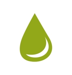 Ecological water drop design vector