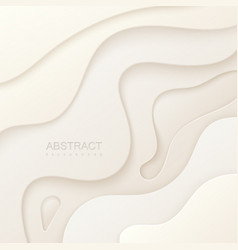 abstract paper cut background vector image vector image
