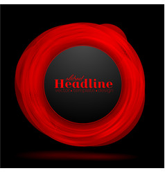abstract red black circle background vector image vector image