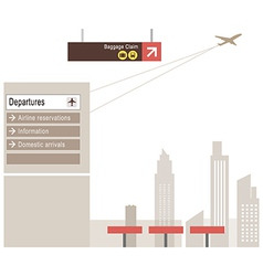 Airport Departures Cityscape vector image vector image