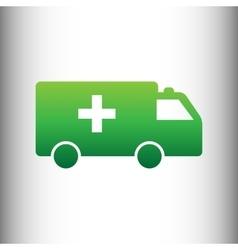 Ambulance sign green gradient icon vector