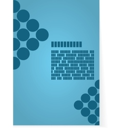 Blue background for brochure or cover vector image