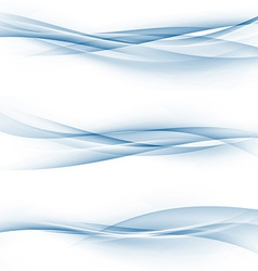 Blue swoosh speed abstract modern web divider set vector image vector image