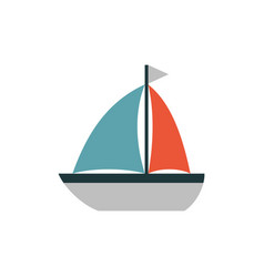 boat icon flat vector image