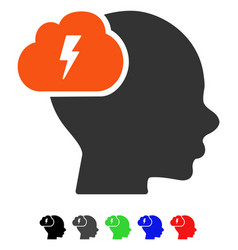 Brainstorm flat icon vector