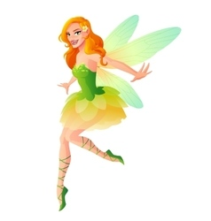 cute flying fairy with dragonfly wings in vector image
