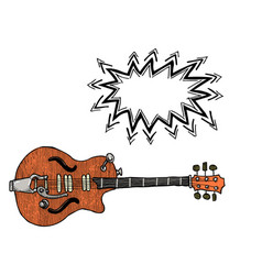 electric guitar-100 vector image vector image
