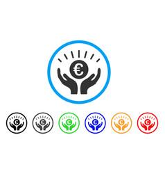 Euro prosperity rounded icon vector