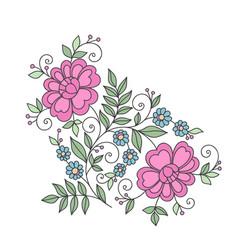 Flower design element stylized floral ornament vector