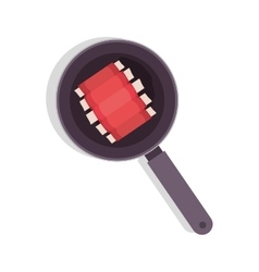 Food frying pan with rib vector
